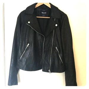 Madewell Washed Leather jacket size medium